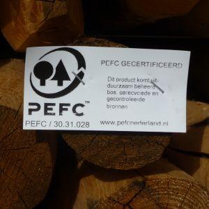 Hout met PEFC label