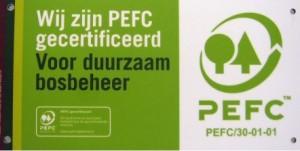 PEFC plaquette, PEFC gecertificeerd