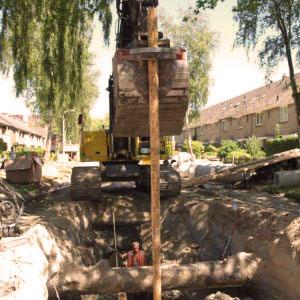 ADB, riolering Zaandam, PEFC gecertificeerd hout