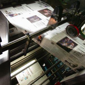 Kranten drukmachine