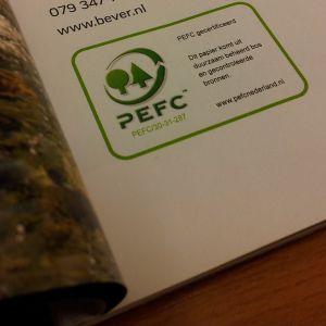 Tijdschrift met PEFC label