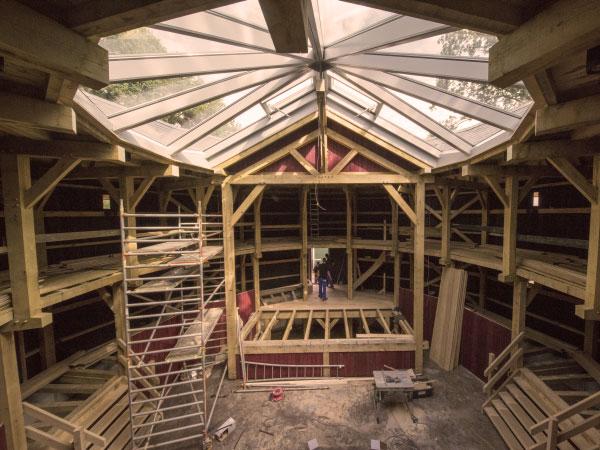 Globetheater Diever, houtconstructie door Assinkhout