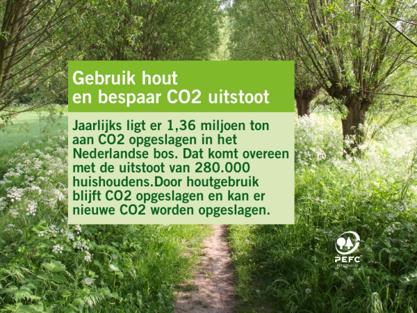 Gebruik hout en bespaar CO2 uitstoot