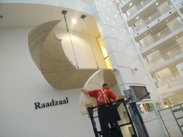 Raadzaal Den Haag, Kerto houtentrap, PEFC gecertificeerd